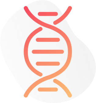 Digital image of an orange outlined DNA strand. This image depicts how a psychiatric may use genetic testing as a part of psychiatric consultations in New York City. 10018 | 11103