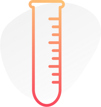 Digital image of an orange outline of a test tube. This image illustrates that a psychiatrist in New York City can provide psychiatric consultations that include blood tests. | 10005 | 10003