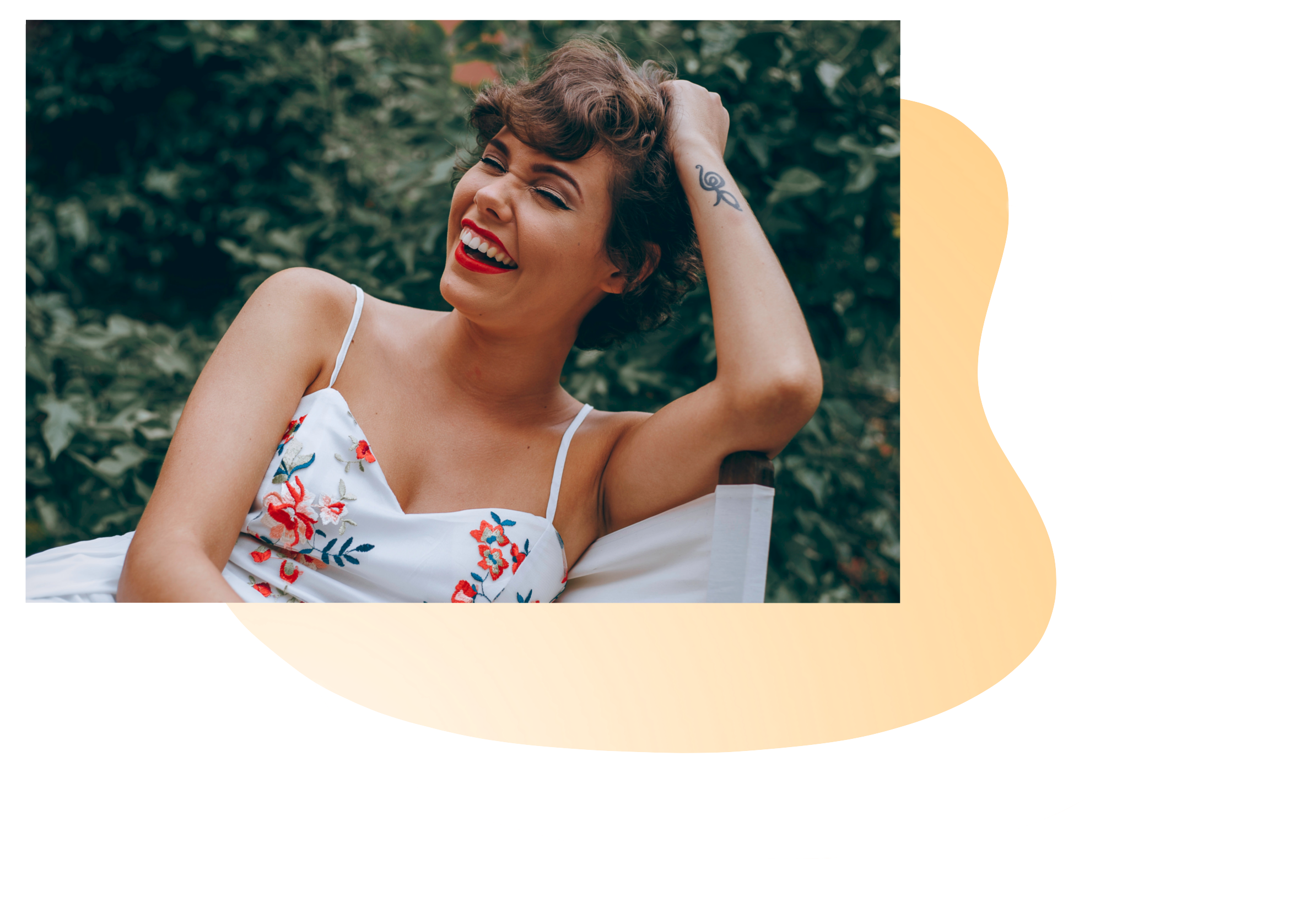 Image of a young woman relaxing and smiling. This image represents how people feel after doing psychiatric consultations in New York City with a psychiatrist or psychiatric nurse practitioner.   11211   10005   10003