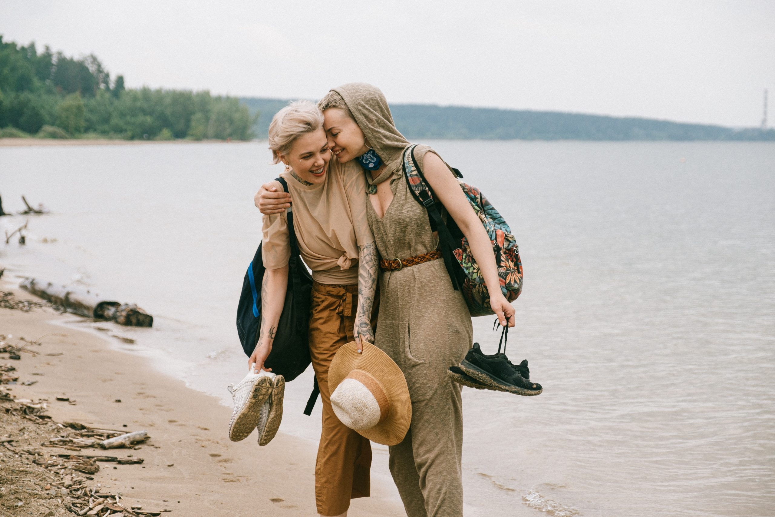 Image of two people hiking in the woods together. Image could represent the support one gains from online therapy in New York City. Seeing an online therapist in New York City can help you heal.   11211   10003   10001